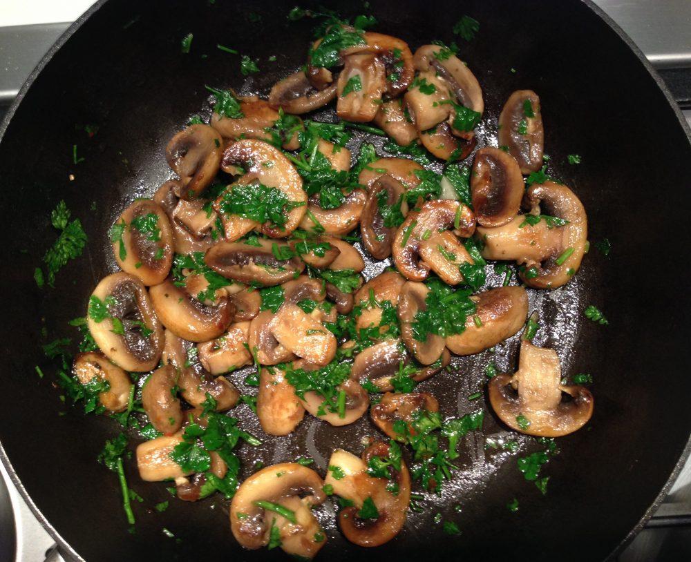 Recept voor champignons met peterselie