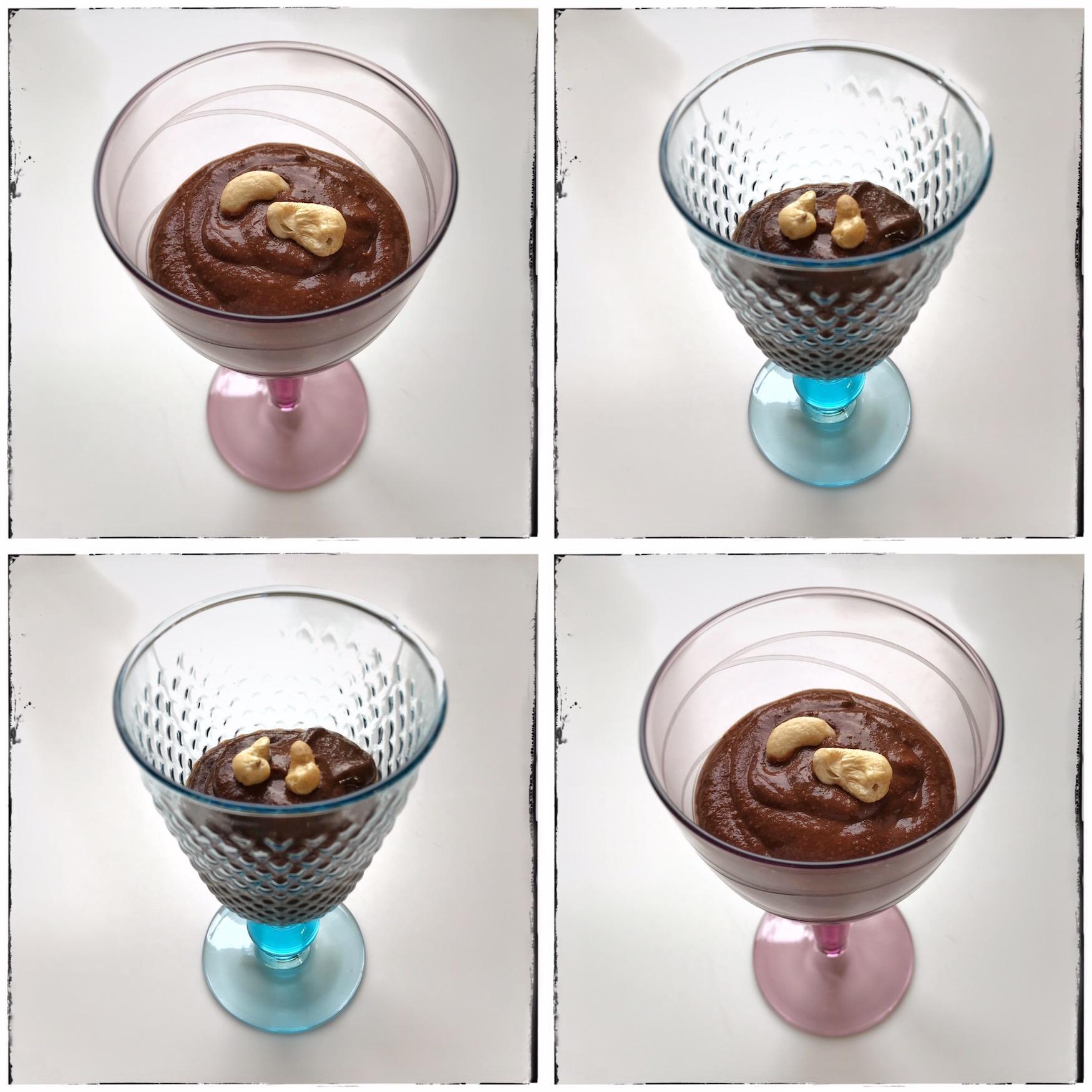 Recept voor chocolademousse met fruit en noten