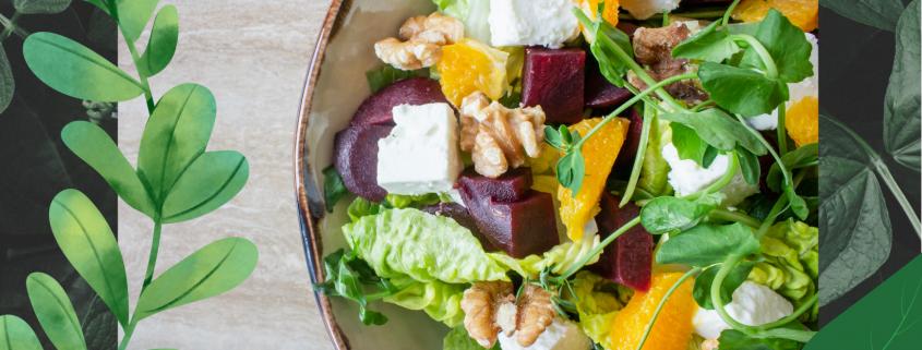 lunchsalade met fruit